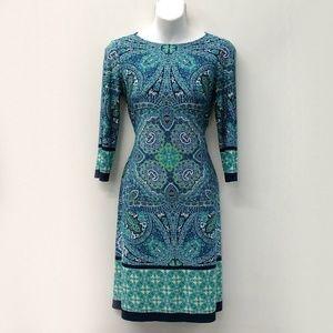 LONDON TIMES, 3/4 sleeve dress, LIKE NEW